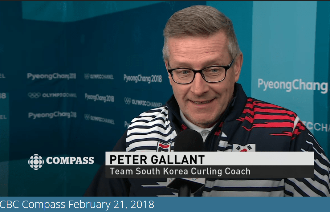 PEI's Peter Gallant, coach of the South Korean women's curling team, on Compass last evening