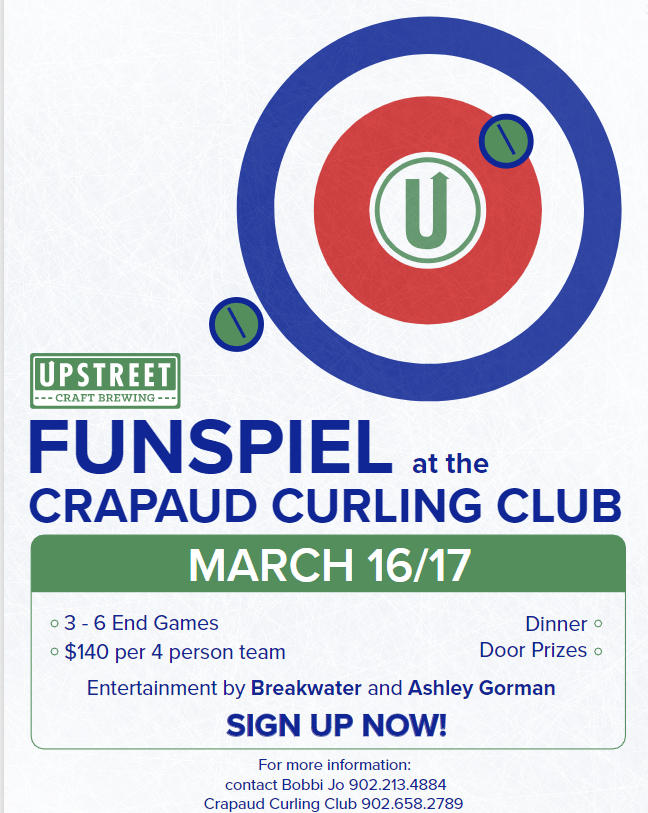 Upstreet Craft Brewing Funspiel @ Crapaud Community Curling Club