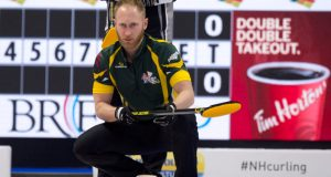 Gushue among trio of teams who have qualified for Tim Hortons Brier Page playoffs (Curling Canada)