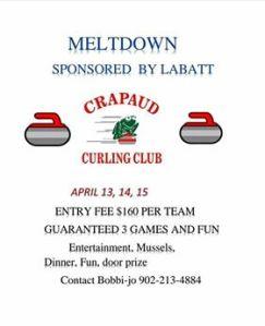 Annual Meltdown funspiel at Crapaud April 13-15 still looking for teams
