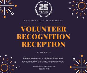 Sport PEI Volunteer Recognition Reception