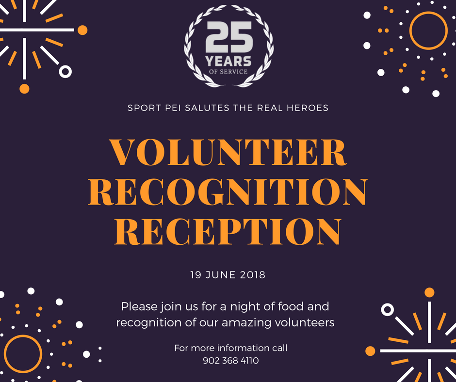 Sport PEI Volunteer Recognition Reception