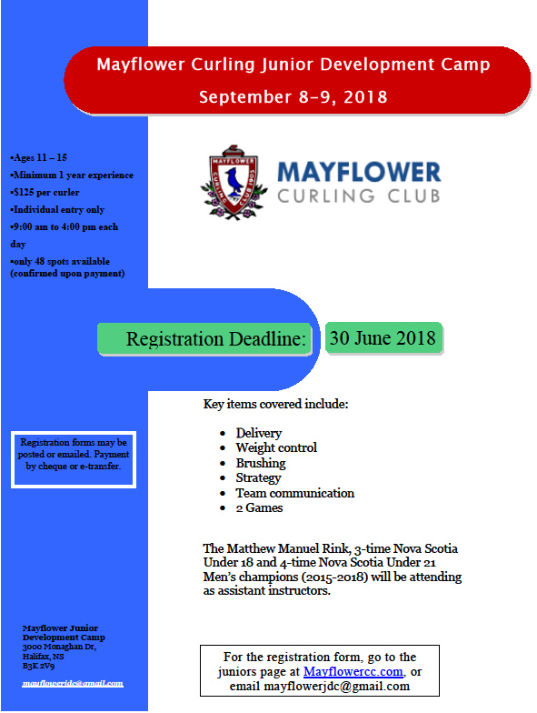 Mayflower Junior Development Camp in Halifax @ Mayflower Curling Club | Halifax | Nova Scotia | Canada