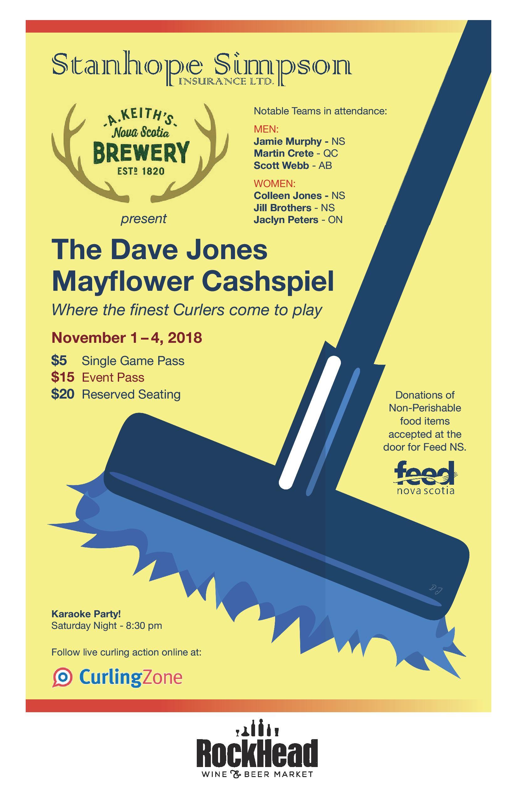 Dave Jones Mayflower Cashspiel @ Mayflower Curling Club