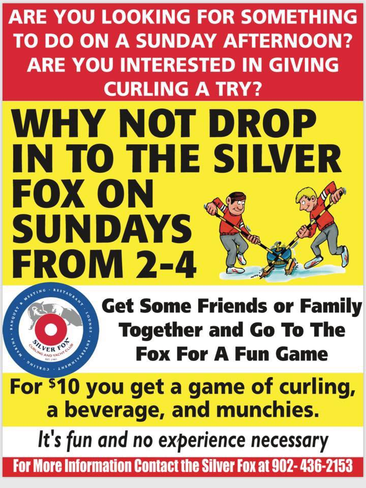 Try curling Sundays at the Fox!