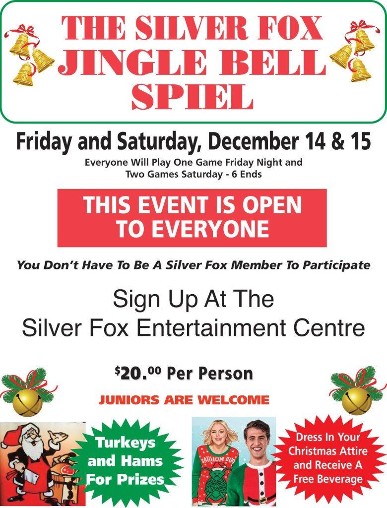 Jingle Bell Spiel - open to everyone @ Silver Fox Curling and Yacht Club