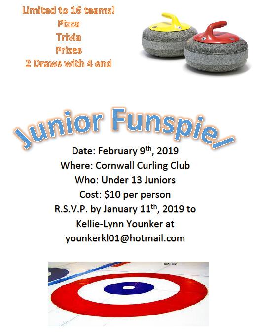 U13 Junior Funspiel @ Cornwall Curling Club