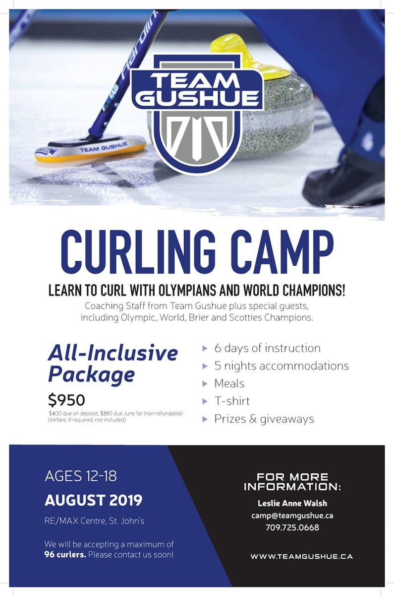 Team Gushue holding summer curling camp for ages 12-18