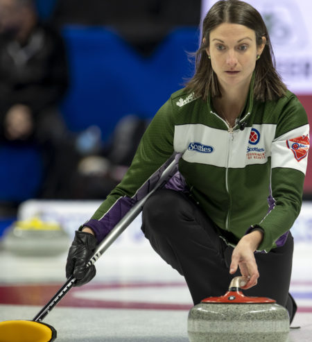 Birt ties two scoring records in Scotties morning game, and clinches Ch'ship Pool berth (Curling Canada)