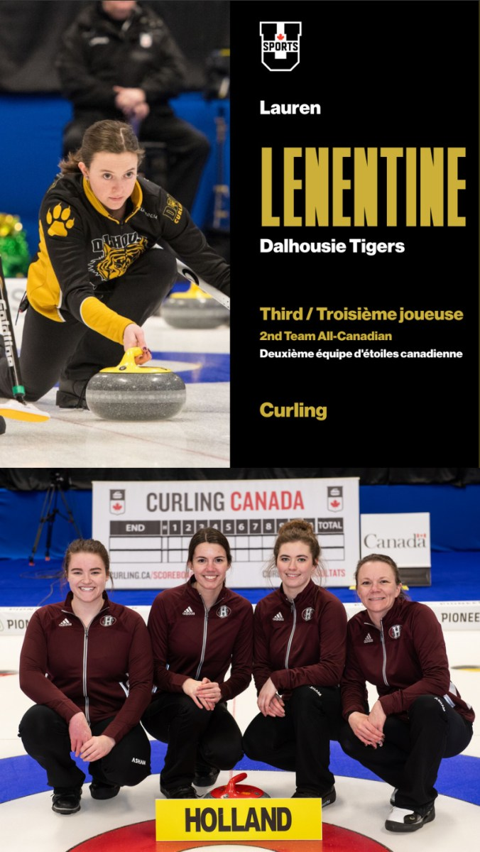 Lauren Lenentine (U Sports), Tegan Stride (CCAA) make 2nd All Star teams as varsity ch'ships conclude in Fredericton (Curling Canada/U Sports/CCAA)
