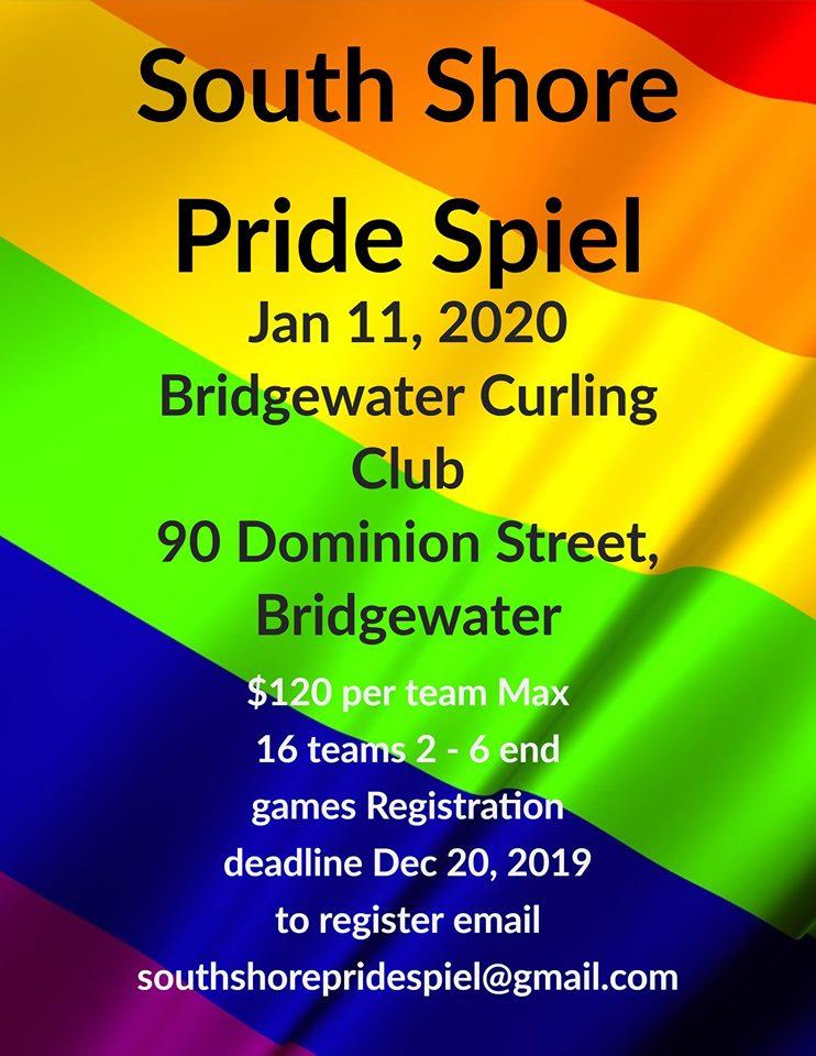 South Shore (NS) Pride Spiel @ Bridgewater Curling Club