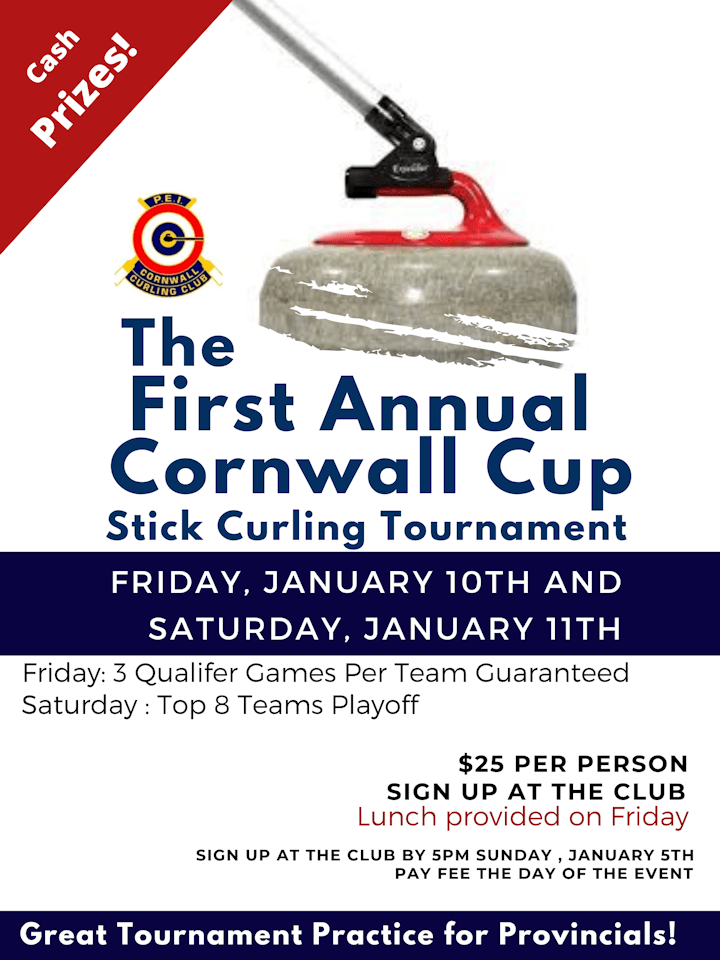 Cornwall Cup Stick Curling Tournament @ Cornwall Curling Club