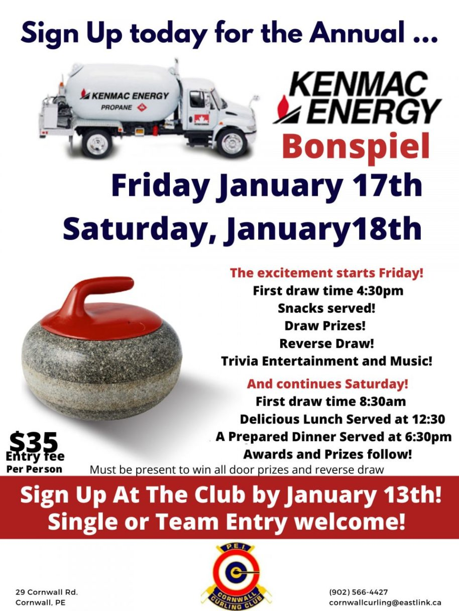 Kenmac Energy Fun Mixed Bonspiel @ Cornwall Curling Club