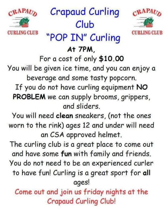 Pop-in Curling @ Crapaud Community Curling Club