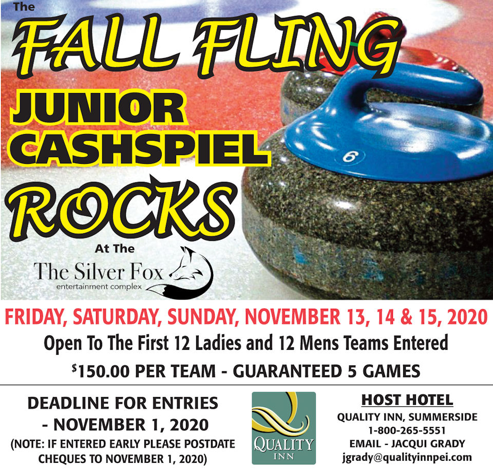 CANCELLED-Fall Fling Jr. Cashspiel @ Silver Fox Curling and Yacht Entertainment Complex