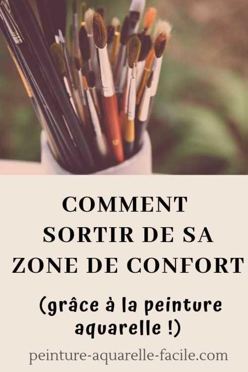 Sortir sa zone de confort grâce à l'aquarelle pour Pinterest