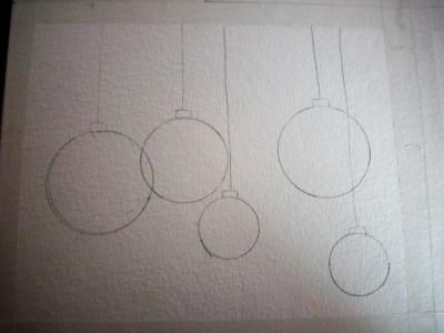 dessin des boules de noel