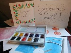 5 cartes de vœux à l'aquarelle faciles à réaliser
