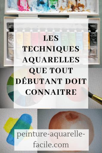 techniques aquarelles Pinterest