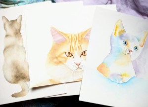 Tuto : comment peindre un chat à l'aquarelle