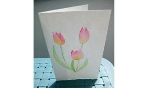 Des tulipes à l'aquarelle pour la fête des mères