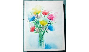 Comment peindre un bouquet de fleurs abstrait à l'aquarelle