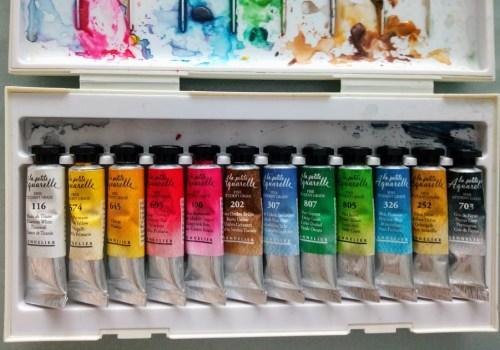 Peinture aquarelle en tubes