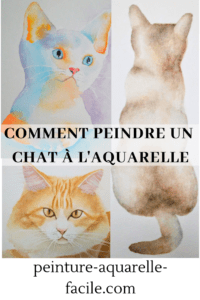 Chat à l'aquarelle pour Pinterest