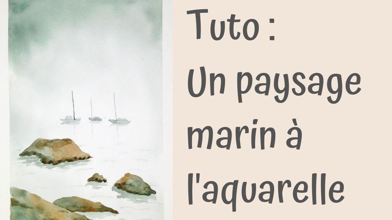 Paysage marin à l'aquarelle : tutoriel débutant