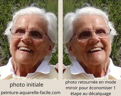 Astuce dessin : retourner la photo en mode miroir pour économiser 1 étape au décalquage