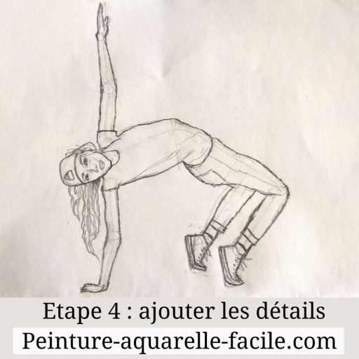 Etape 4 dessin d'un personnage : ajouter les détails