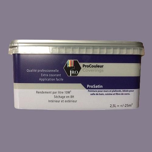 pro couleurs peinture acrylique satinee 2 5l gris taupe
