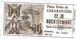 Pejino.com concierto 22 Rocktiembre Carabanchel 1978
