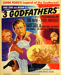 Cartel de la película Los tres padrinos