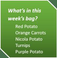 Week 4 Fall 2018_veg list