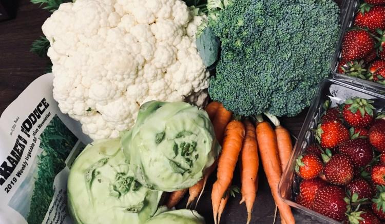 2019 weekly vegetable subscription- week 4