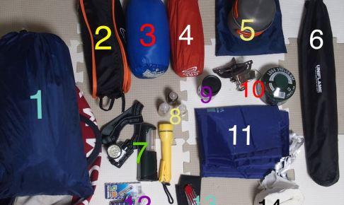 キャンプツーリングの道具