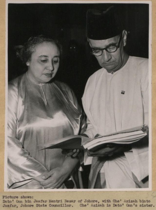 Dato' Onn bersama Che' Azizah