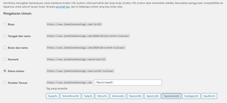 Edit Permalink WordPress