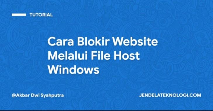 Cara Blokir Website