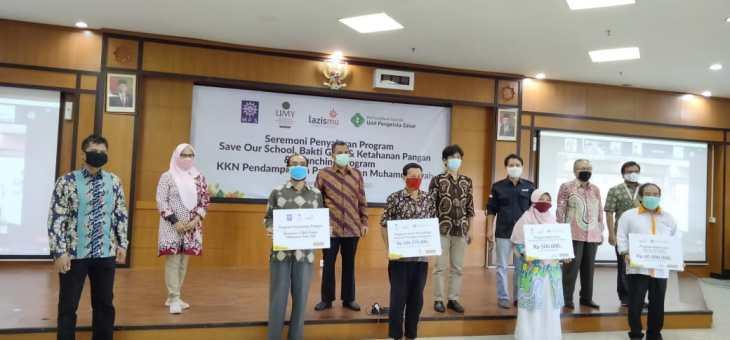 Seremoni Launching KKN UMY Pendampingan Panti Asuhan dan Penyaluran Bantuan Ketahanan Pangan Lazismu