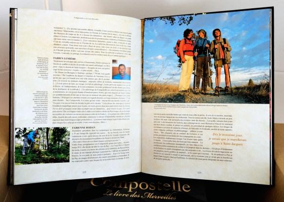 """""""Compostelle, le livre des Merveilles"""", page 122 & 123, dans le chapitre """"Eloge de la marche sur les chemins de Saint Jacques."""