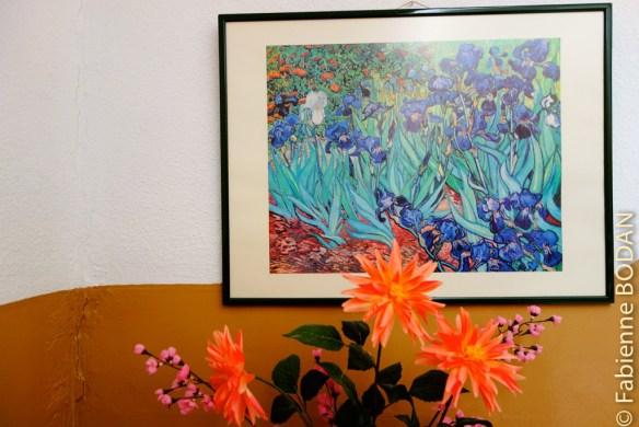 Décidément, après l'auberge de Zafra, Vincent Van Gogh est très présent dans les hébergements. © Fabienne Bodan