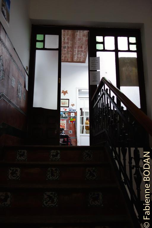 L'escalier qui monte vers l'albergue © Fabienne Bodan