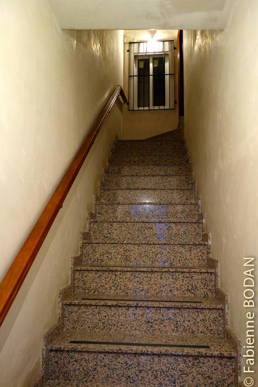 Les chambres sont à l'étage. © Fabienne Bodan
