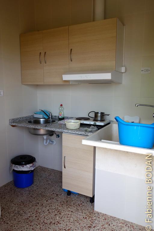 Une mini-cuisine-lavoir à linge est à la disposition des pèlerins...© Fabienne Bodan