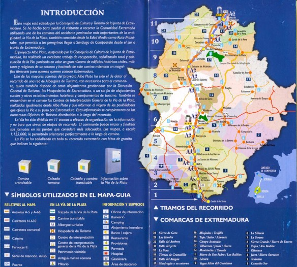 Document Via de la Plata en Extremadure, remis dans les offices du tourisme de la province (2)