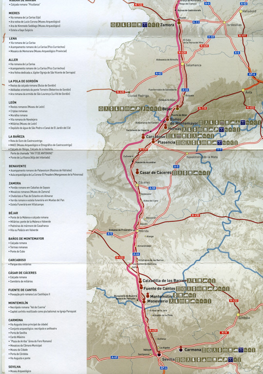 Document Ruta Via de la Plata de l'association La Red de Cooperación de Ciudades en la Ruta de la Plata.