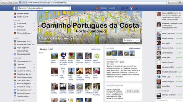 "Groupe de pèlerins lusophones sur Facebook :  : ""Caminho Português da Costa"""