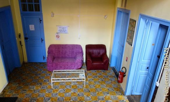 Le salon du premier étage...© Fabienne Bodan